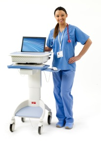 Flo 1570 laptop cart with model